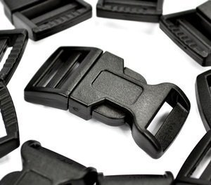 "Best Price! Blue Elf® 50 PCS 5/8"" (15mm) Black Contoured Side Release Plastic Buckles for Para..."