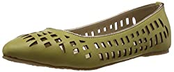 Bata Womens Green Flats - 7 UK (5513100)