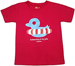A Pick-Me-Up Little Girls39 Graphic T-Shirt Swimming Ducky