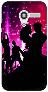 The Racoon dj got us falling in love pink hard plastic printed back Case for Moto X (1st Gen)