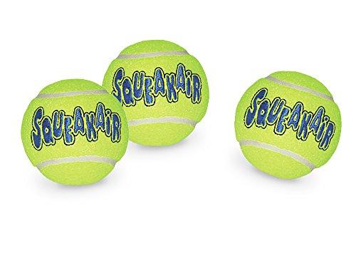 Kong Air Dog Squeakair Tennis Balls Dog Toy, Medium, Yellow, 3/Pack