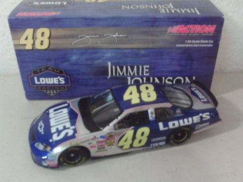 2004 Jimmie Johnson #48 Team Lowes Racing Monte Carlo 1/24 Scale Diecast Hood Opens Trunk Opens Hoto Limited Edition Gm Dealers Edition Action Racing Collectables Arc Only 1896 Made