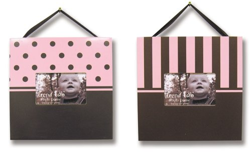 Photo Frame Set In Pink And Brown