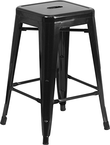 24-high-backless-black-metal-indoor-outdoor-counter-height-stool-with-square-seat