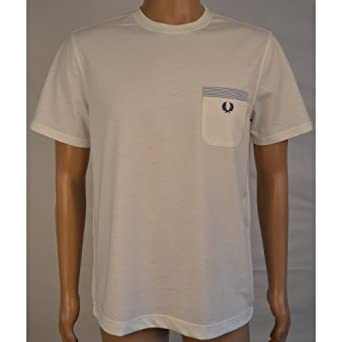 Fred Perry Woven Stripe Trim T-Shirt M