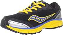 Saucony Outduel Running Shoe (Little Kid/Big Kid),Black/Royal/Yellow,4 M US Big Kid
