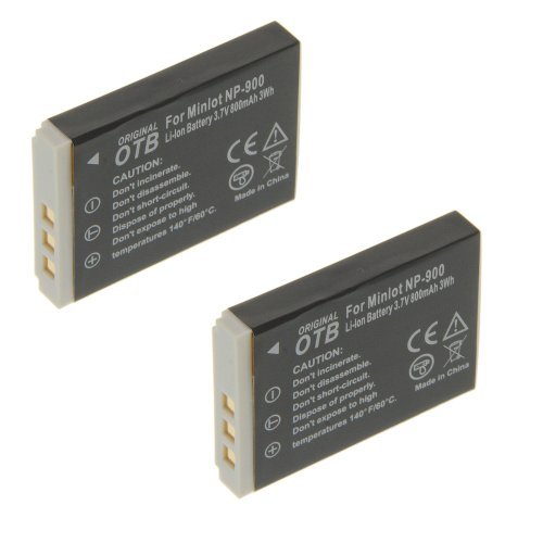 2 x Power Li-Ion Akku Typ NP-900 (kein Original) für Maginon Slimline X4 Slimline X5 Performic S5 Slimline X6 Slimline X50 Slimline X60 DC-6600 DC-6800 Slimline XS6