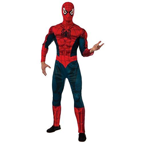 Rubie's Costume Men's Marvel Universe Adult Deluxe Spider-man Costume, Multi, Standard