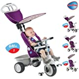 Serene Smart Trike Recliner Stroller 4-in-1 in Purple - Cleva Edition 3DAlarmD Bundle