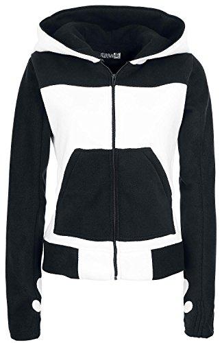 Killer Panda Kp Split Up Hood-Girl giacca con cappuccio nero/bianco Schwarz/Weiß XL