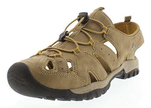 NorthsideWomen's Burke II Sandal, Tan/Dark Honey, 9 M US (Women Outdoor Sandals compare prices)