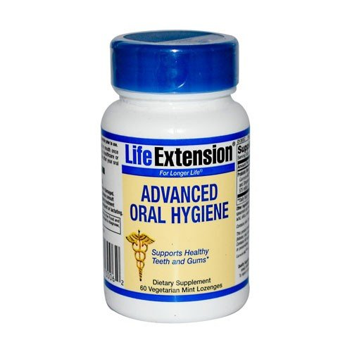 Life Extension Advanced Oral Hygiene, Vegetarian Mint Lozenges, 60-Count