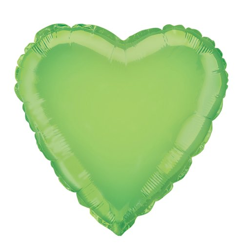 18'' Foil Lime Green Heart Balloon