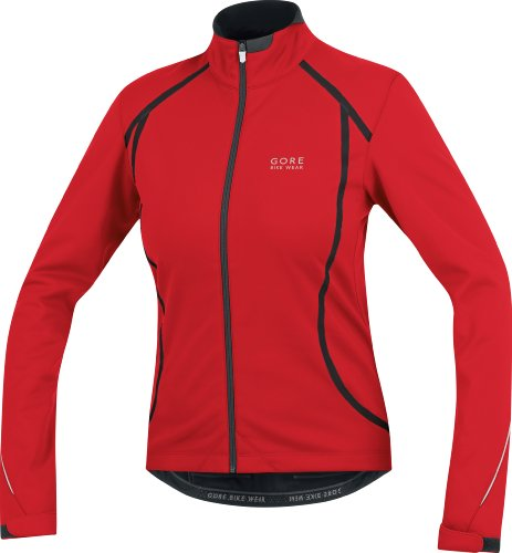 Gore Bike Wear Oxygen So Lady Jacket Women's Cycle Clothing - Red/Black, Size 44 (XX-Large)