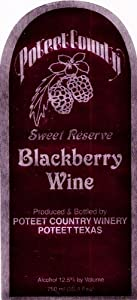 Poteet Country Winery Blackberry Sweet Reserve 750 mL