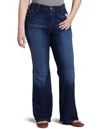 Levi's Women's Plus-Size 580 Bootcut Jean (16 SHORT, Winding Road)