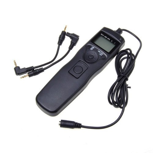 Shutter Release Timer Remote Control Cord For Canon EOS 550D/Rebel T2i, 450D/XSi, 400D/XTi, 350D/XT, 300D, 60D, 600D, 500D, 1100D, 1000D, 1D, 1D Mark II, 1D Mark II N, 1D Mark III, 1Ds, 1Ds Mark II, 1Ds Mark III, 5D, 5D Mark II, 10D, 20D, 30D, 40D, 50D, EOS Film SLR EOS 1V 1VHS 3