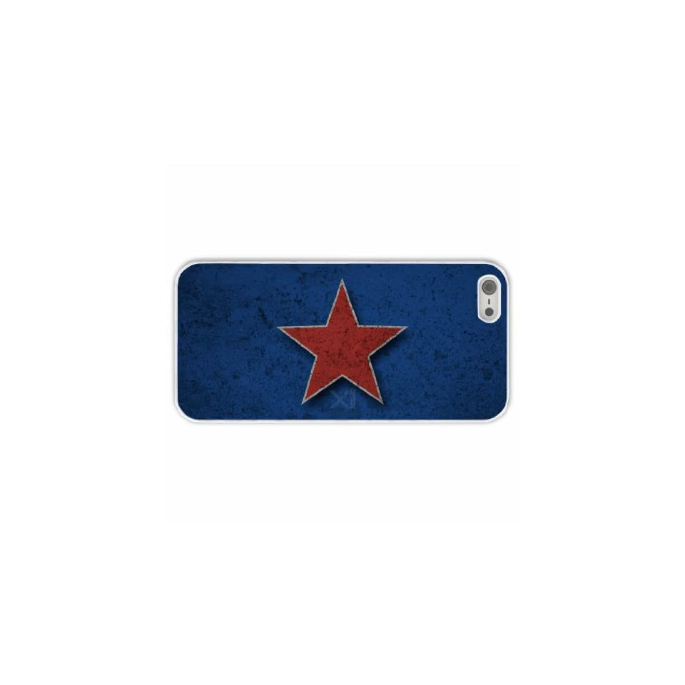 Custom Designer Apple Iphone 5/5S Misc Red Star Of Innervation Present White Case Cover For Family Cell Phones & Accessories