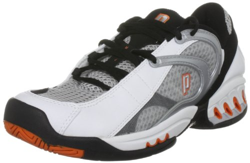 Prince MV4 Ventilation Men's Tennis Footwear Black/White/Orange 7 UK