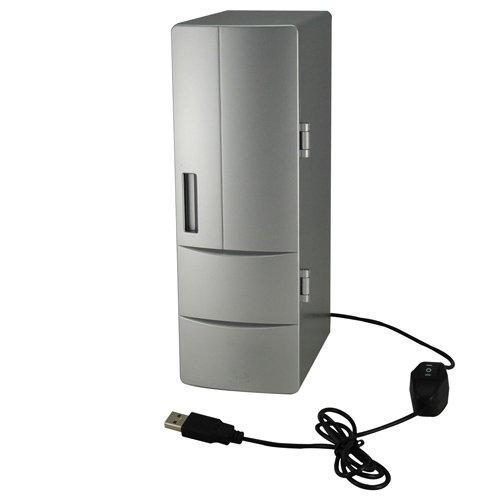 Mini USB PC Fridge Refrigerator Beverage Drink Can Cooler/Warmer Silver