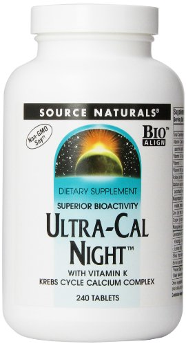 Source Naturals Ultra Cal Night with Vitamin K, 240 Tabs