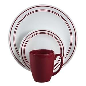 SALE Corelle Livingware 16 Piece Dinnerware Set Service For Best Dinnerwa