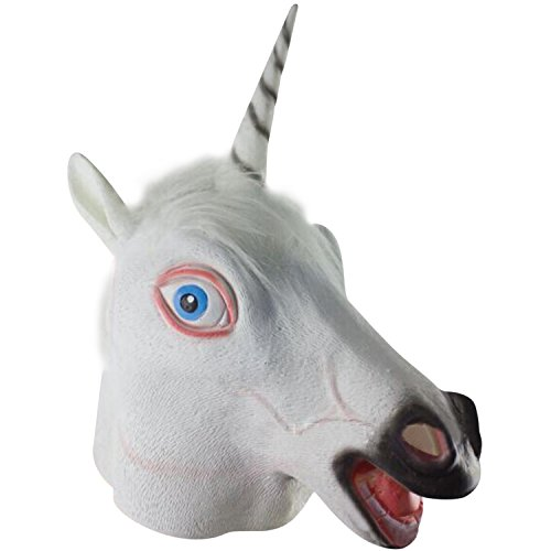 [HighFS Horse Animal Head Mask Halloween Party Costume Decorations Latex Animal Face Masks, Unicorn] (Horse For Sale Costume)