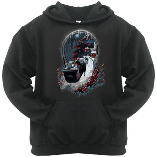 Old Glory Mens Grateful Dead - Winter Sleigh Pullover Hoodie - Small Black
