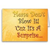 Surprise Birthday Party Invite for HIM Greeting Card
