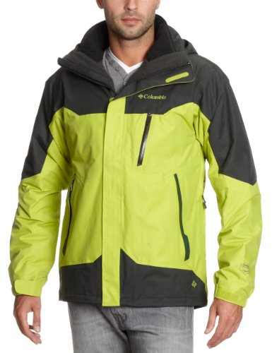 Columbia Lezoosh Interchange Men's Jacket - Leapfrog/Dark Moss, Small