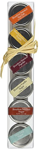 Bourbon Barrel 6 Piece Gift Set of Spices and Sugars