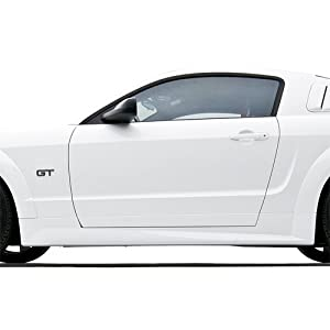 3dCarbon 2010-2012 Mustang Boy Racer Left Side Skirt (painted: Sparkle Silver Effect - Wheel - M6389-W)