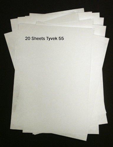 Fabrics & Textiles Tyvek - Confezione di 20 fogli formato A4, 55 gsm