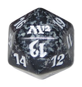 MTG Spindown D20 Life Counter - M12 Magic 2012 Black