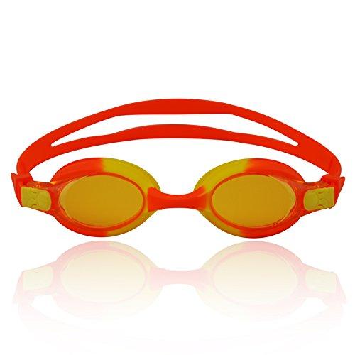 »Picco« Kinder-Schwimmbrille, 100% UV-Schutz + Antibeschlag. Starkes Silikonband + stabile Box. TOP-MARKEN-QUALITÄT! Große Farbauswahl.