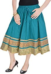Ceil Women's Skirt (SK 1006_Green_Free Size)