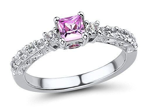 Lab-Created-Pink-Sapphire-Ring-with-Lab-Created-White-Sapphire-Accents-in-Sterling-Silver