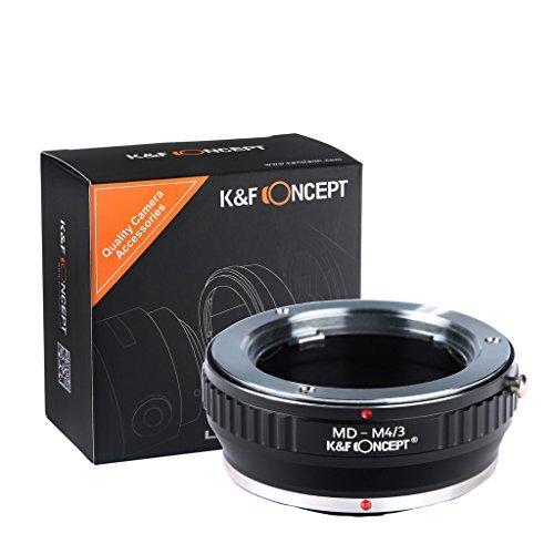 K&F Concept® マウントアダプター MD-M4/3 MDマウントレンズ-マイクロフォーサーズマウントボディ用 Minolta MDレンズ- Micro4/3カメラ装着用レンズアダプターリング