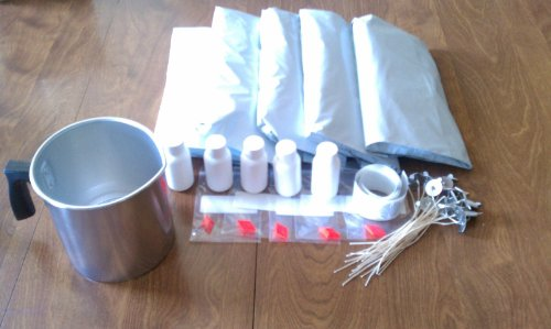 5 Lb Soy Candle Making Kit, Scents, Wax, Wicks, Dyes with Melting Pot (Multi)