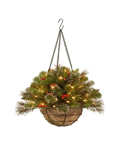 "National Tree Company 20"" Crestwood Spruce Chain Hanging Basket"