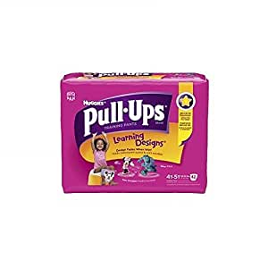 Huggies Pull-Ups Training Pants for Girls with Learning Designs, Biggie Pack, 4T-5T, 42 ea