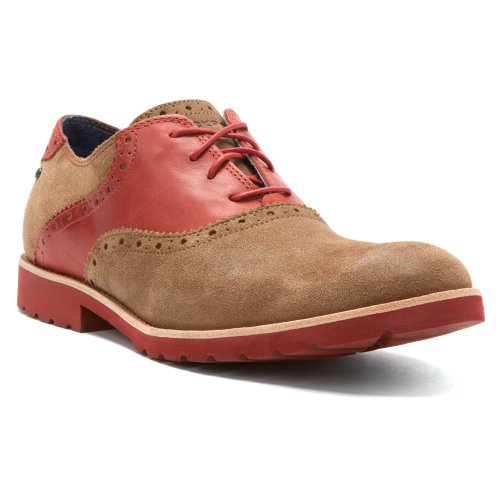 RockportRockport Ledge Hill Saddle - Scarpe Basse Stringate Ragazzi uomo , rosso (VICUNA SUEDE/KETCHUP RED), 44.5