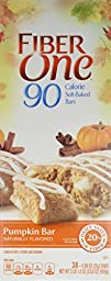 Fiber One 90 Calorie Pumpkin Bars, 0.89 oz Bars - Value Size 38 Ct