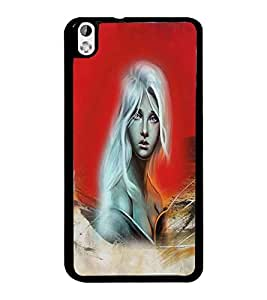 PrintDhaba Fantasy Girl D-4191 Back Case Cover for HTC DESIRE 816 (Multi-Coloured)