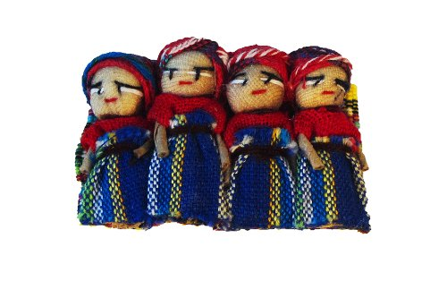 Worry Doll Barrette with Large Dolls - 1