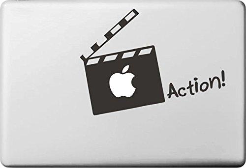 "Vati fogli smontabili Apple creativo azione carta Decal Sticker Art nero per Apple Macbook Pro Air Mac 13 ""15"" pollici / Unibody 13 ""15"" Laptop Inch"
