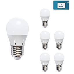 LED night light bulbs A19 7W 6000K(Day White), 75W Incandescent Bulb 25W Halogen bulb Equivalent, Budget-friendly led light bulbs for home