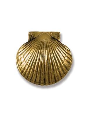 Michael Healy Designs Best Seller Bay Scallop Door Knocker, Brass
