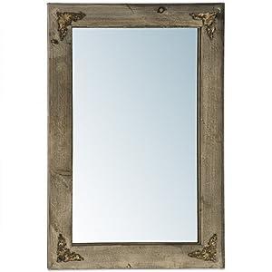 Rustikaler spiegel ornamente holz wandspiegel 60x40cm k che haushalt - Rustikaler spiegel ...