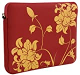 "Laurex 17"" Neoprene Notebook/Laptop Sleeve Case - Red Blossom"